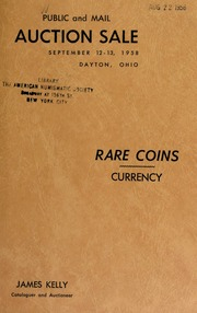 Catalogue of rare coins : to be sold at auction. [09/12-13/1958]