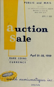 Catalogue of rare coins and medals : to be sold at public auction. [04/21-22/1959]