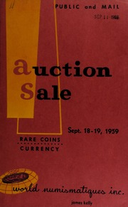 Catalogue of rare coins and medals : to be sold at public auction. [09/18-19/1959]
