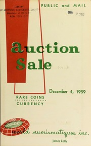 Catalogue of rare coins and medals : to be sold at public auction. [12/04/1959]