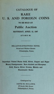 Catalogue of rare U.S. and foreign coins ... [04/12/1947]