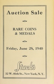 Catalogue of rare United States and foreign silver and copper coins. [06/28/1940]