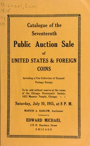 Catalogue of the seventeenth public auction sale of United States & foreign coins ... [07/10/1915]