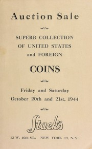 Catalogue of several desirable collections of U.S. and foreign coins ... [10/20/1944]