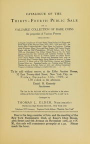 Catalogue of the Thirty-Fourth Public Sale of a Valuable Collection of Rare Coins