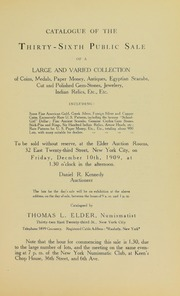 Catalogue of the Thirty-Sixth Public Sale of a Large and Varied Collection