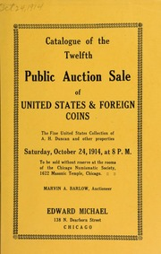 Catalogue of the twelfth public auction sale of United States & foreign coins. [10/24/1914]
