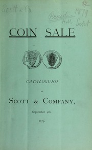 Catalogue of United States and foreign coins, medals & notes, partly the collection of Hon. Alfred Watkins ... [09/04/1879]