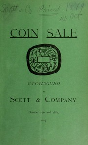Catalogue of United States and foreign coins, medals and notes ... [10/27/1879]