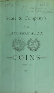 Catalogue of United States and foreign silver and copper coins ... [04/12/1880]