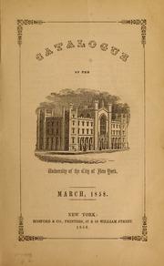 Catalogue of the University...