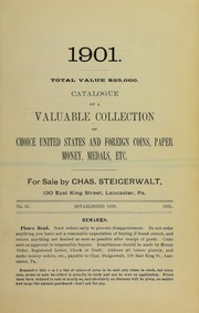 Catalogue of ... Choice United States and Foreign Coins ..., No. 59