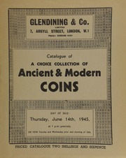 Catalogue of a very choice collection of ancient and modern coins, [some being] gold coins of Malta, [and others], English and foreign ... [06/14/1945]