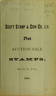 Catalogue of a very fine collection of American and foreign postage stamps ... [03/08/1886]