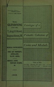 Catalogue of very valuable collections of coins, medals and decorations, including ... the property of T. Newherd, Esq. ... [02/22/1906]