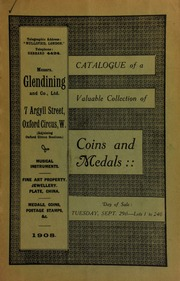 Catalogue of a very valuable collection of coins & medals, including a collection of Isle of Man coins and tokens, formed by Mr. C.J. Phillips ... [09/29/1908]