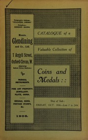 Catalogue of a very valuable collection of coins & medals, including the collection of the late H. Pickworth, Esq. ... [10/30/1908]