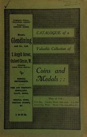 Catalogue of a very valuable collection of coins & medals, including a collection of English crowns, the property of Captain W.H. Williamson ... [03/16/1909]