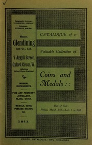 Catalogue of a very valuable collection of coins & medals, including the property of Captain A.C. Cust, Ampthill, Bedfordshire ... [03/24/1911]