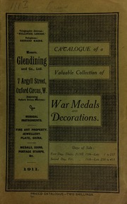 Catalogue of a very valuable collection of coins & medals, including the collection of Oriental coins formed by the late Major R.C. Tufnell, (formerly Keeper of the Madras Coin Cabinet) ... [06/15/1911]