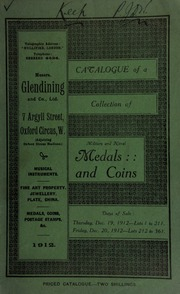 Catalogue of a very valuable collection of coins & medals, including Seleucidian coins of Syria, formed by Prince Gagarine ... [12/19/1912]
