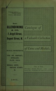 Catalogue of very valuable collections of coins, medals and decorations, including a fine copy of the celebrated Petition Crown, equal to mint state ... [02/21/1905]