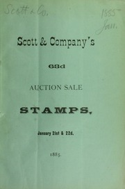 Catalogue of a very valuable collection of American and foreign postage stamps ... [01/21/1885]