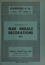 Catalogue of war medals [and] decorations, including the Royal Red Cross (George V) 1914 Star, war medal and victory medal with oak leaf, awarded to Miss. E.S. Newton, Civ. Hosp. Res.; [and] an old Spode egg stand, with crest of the 8th King's Royal Irish Hussars ... [03/07/1941]