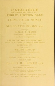 Catalogue : one hundred and twenty first public auction sale. [04/08/1927]