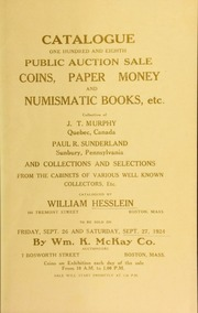 Catalogue : one hundred and eighth public auction sale. [09/26/1924]