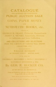 Catalogue : one hundred and nineteenth public auction sale. [12/02/1926]