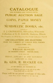 Catalogue : one hundred and twenty-fifth public auction sale. [01/20/1928]
