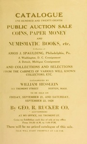 Catalogue : one hundred and twenty-eighth public auction sale. [09/21/1928]