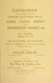 Catalogue : one hundred and ninth public auction sale. [12/06/1924]