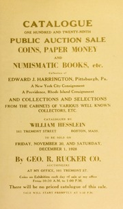 Catalogue : one hundred and twenty-ninth public auction sale. [12/01/1928]