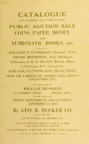 Catalogue : one hundred and thirty-third public auction sale. [09/20/1929]