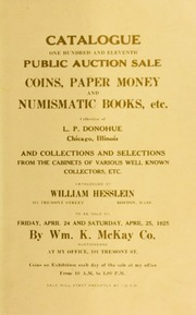 Catalogue : one hundred and eleventh public auction sale. [04/24/1925]