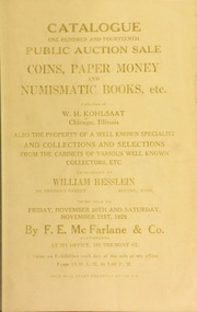 Catalogue : one hundred and fourteenth public auction sale. [11/20/1925]