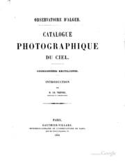 Catalogue photographique du ciel: Coordonnées rectilignes