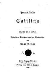 Catilina, Drama in 3 Akten;