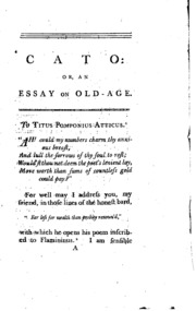 cato the elder on old age marcus tullius cicero white  cato or an essay on old age