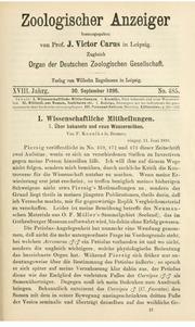 Vol bd.18 1895: andUuml;ber bekannte und neue Wassermilben