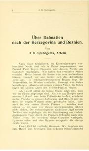 Vol bd. 19 1906: andUuml;ber Dalmatien nach Herzegovina und Bosnien