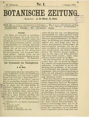Vol v. 39 1881: Zur System d. Thallophyten