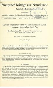 Vol nr. 375-398 1985-86: Zwei bemerkenswerte Landisopoden-Arten von der griechischen Insel Paxandiacute;
