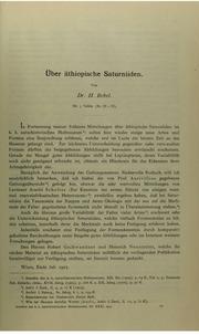 Vol v.30-31(1916-17): andUuml;ber aethiopische Saturniiden