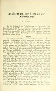 Vol v.18 1906: andAuml;nderungen der Flora an der Nordseekanduuml;ste
