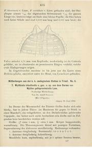 Vol Bd.25, 1902: Zoologischer Anzeiger, 25: 635-637
