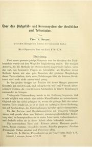 Vol Bd. 96 (1910): andUuml;ber das Blutgefandauml;ss-und Nervensystem der Aeolididae und Tritoniadae