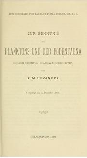 Vol v. 20 1900-1901: Zur Kenntnis der Planktons und der Bodenfauna einiger Seichten Brackwasserbuchten